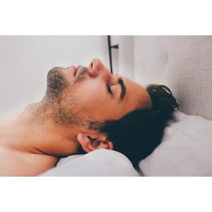 フリー写真, 人物, 男性, 外国人男性, 寝る(寝顔), 横顔