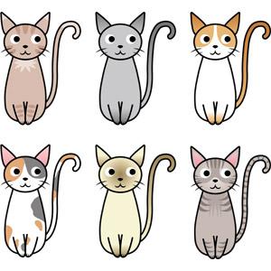 フリーイラスト, ベクター画像, EPS, 動物, 哺乳類, 猫(ネコ), 三毛猫, アメリカン・ショートヘア