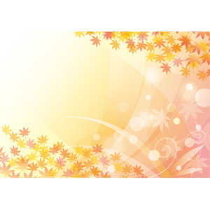 フリーイラスト, ベクター画像, EPS, 背景, 植物, 葉っぱ, 紅葉(黄葉), もみじ(カエデ), 秋