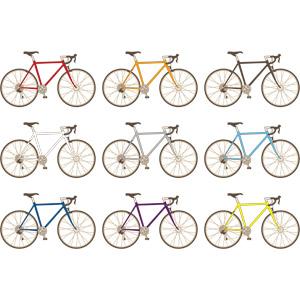 フリーイラスト, ベクター画像, AI, 乗り物, 自転車, ロードバイク