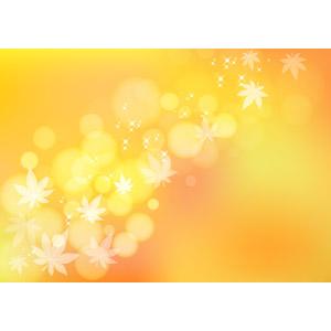 フリーイラスト, ベクター画像, AI, 背景, 葉っぱ, もみじ(カエデ), 秋, オレンジ色, 玉ボケ