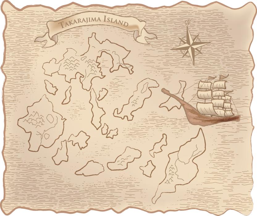 フリー イラスト宝の地図