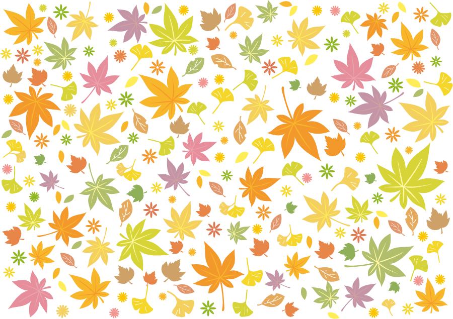 フリー イラスト紅葉した落葉の背景