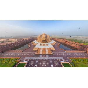 フリー写真, 風景, 建造物, 建築物, 寺院, アークシャルダーム寺院, インドの風景, ヒンズー教(ヒンドゥー教)