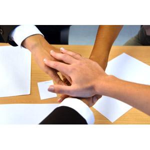 フリー写真, 人体, 手, 手を重ねる, ビジネス