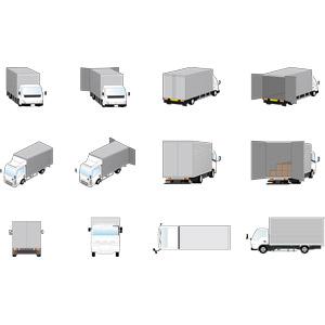 フリーイラスト, ベクター画像, AI, 乗り物, 自動車, 貨物自動車, トラック