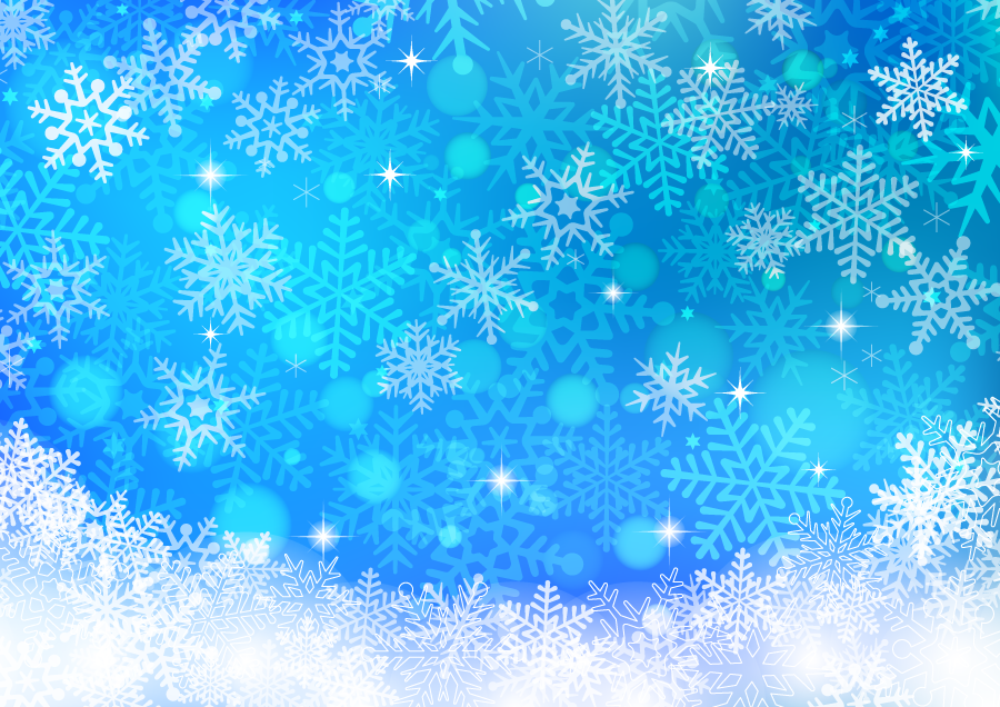 フリー イラスト降り積もる雪の結晶の背景
