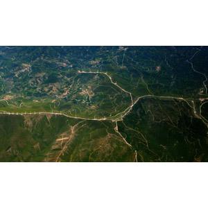 フリー写真, 風景, 山, 道路, 航空写真