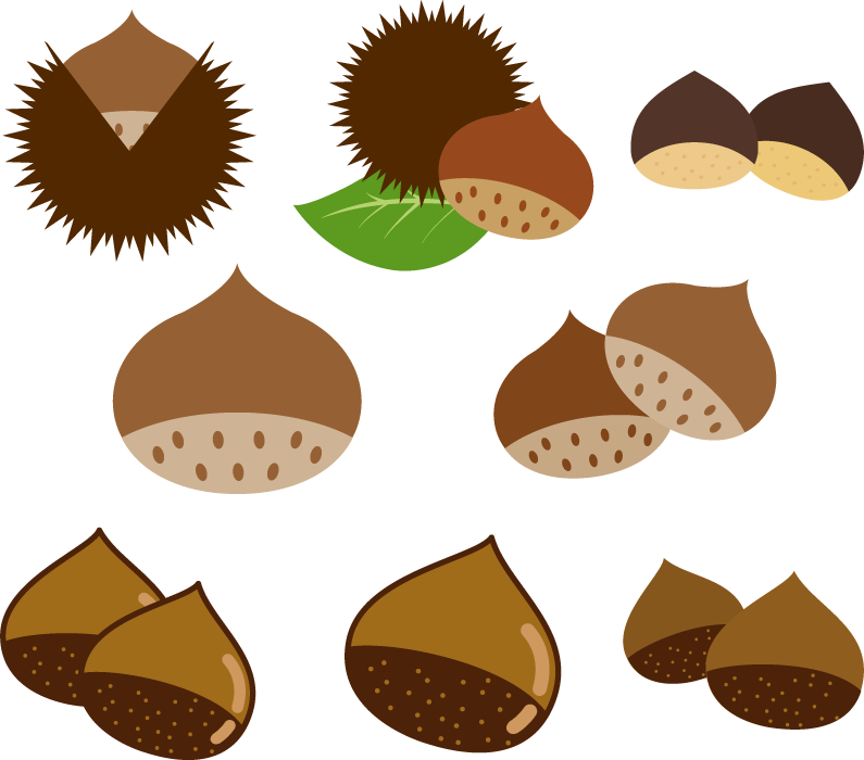 フリー イラスト8種類のクリのセット