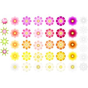 フリーイラスト, ベクター画像, AI, 植物, 花, コスモス(秋桜), 蕾(つぼみ), 秋