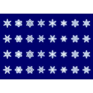 フリーイラスト, ベクター画像, AI, 雪, 雪の結晶, 冬
