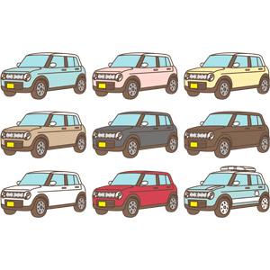フリーイラスト, ベクター画像, AI, 乗り物, 自動車, 軽自動車, スズキ, スズキ・アルトラパン