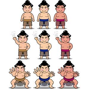 フリーイラスト, ベクター画像, AI, スポーツ, 日本神道, 格闘技, 相撲, お相撲さん(力士)