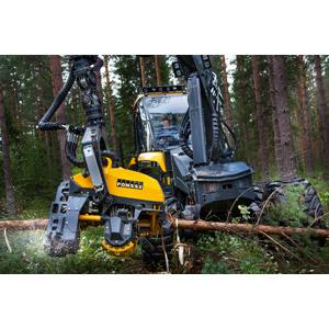 フリー写真, 建設機械(重機), ハーベスター, 林業, 森林