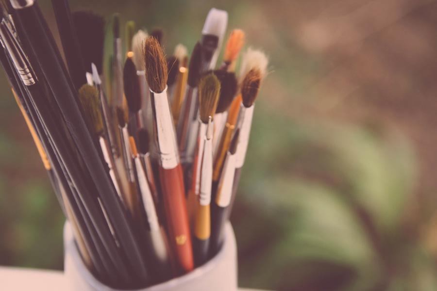 フリー 写真たくさんの絵筆