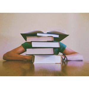 フリー写真, 人物, 学生(生徒), 勉強(学習), 本(書籍)