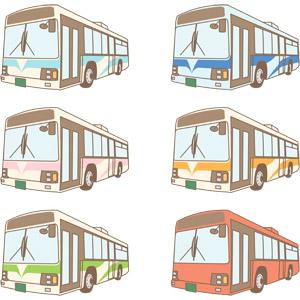 フリーイラスト, ベクター画像, AI, 乗り物, 自動車, 働く車, バス