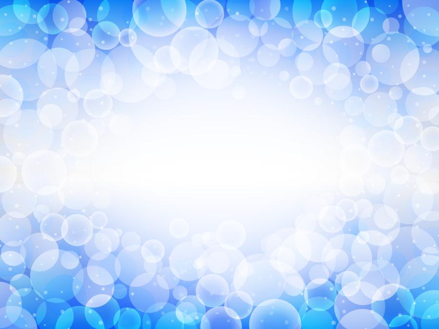フリー イラスト光の玉ボケと青色の背景