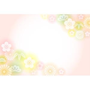 フリーイラスト, ベクター画像, AI, 背景, 和柄, 正月, 年賀状, 1月, 新春, 松(マツ), 竹(タケ), 梅(ウメ), 菊(キク)