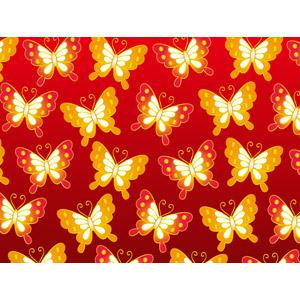 フリーイラスト, ベクター画像, AI, 背景, 動物, 昆虫, 蝶(チョウ), 赤色(レッド)