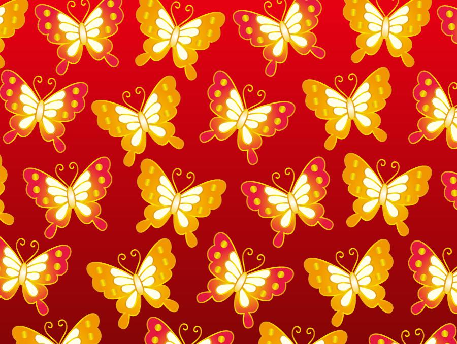 フリー イラスト蝶のパターン背景