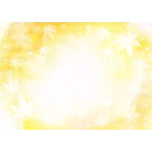 フリーイラスト, ベクター画像, AI, 背景, 植物, 葉っぱ, もみじ(カエデ), 玉ボケ, オレンジ色