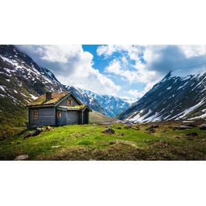 フリー写真, 風景, 山, 山小屋, 小屋(納屋)