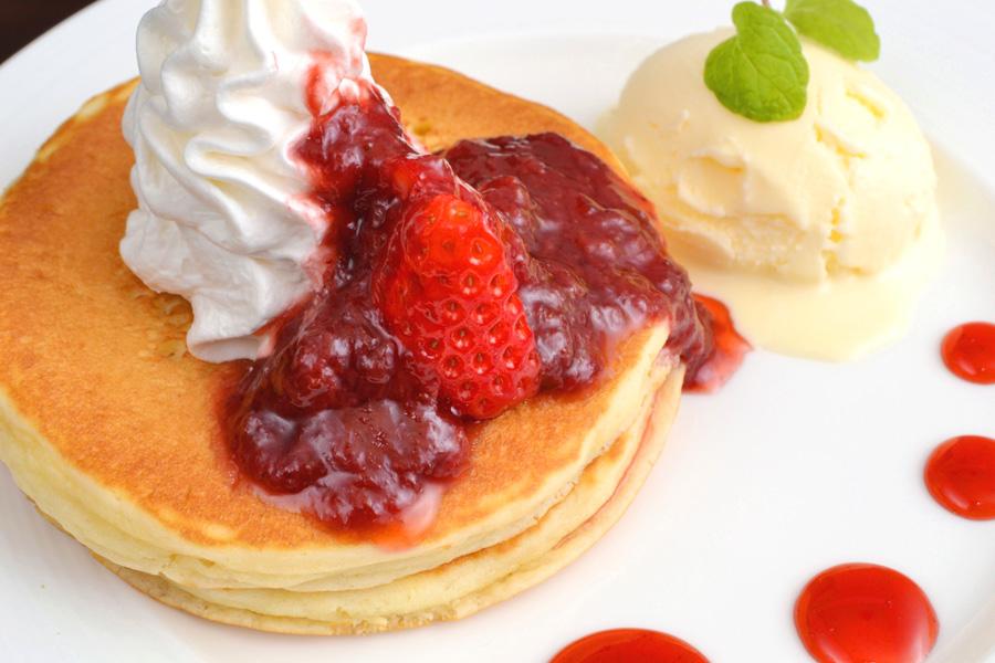 フリー 写真パンケーキ
