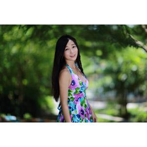 フリー写真, 人物, 女性, アジア人女性, 江滴滴(00013), 中国人, ワンピース