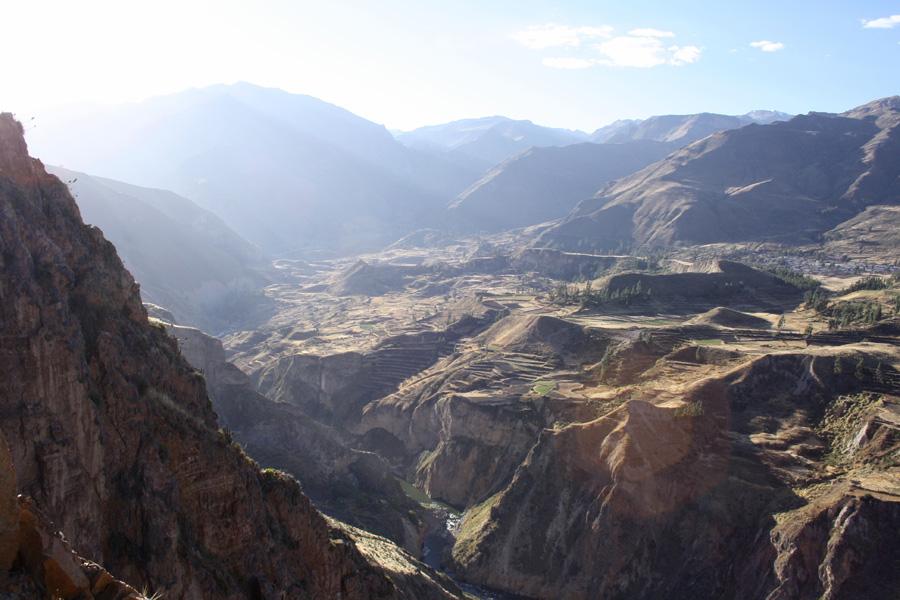 フリー 写真ペルーのコルカ渓谷の風景