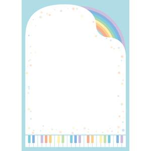 フリーイラスト, ベクター画像, AI, 背景, 音楽, 楽器, 鍵盤楽器, ピアノ, 虹, 水玉模様(ドット柄), カラフル