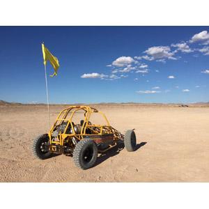 フリー写真, 乗り物, 自動車, バギーカー, 砂漠, 青空, 雲