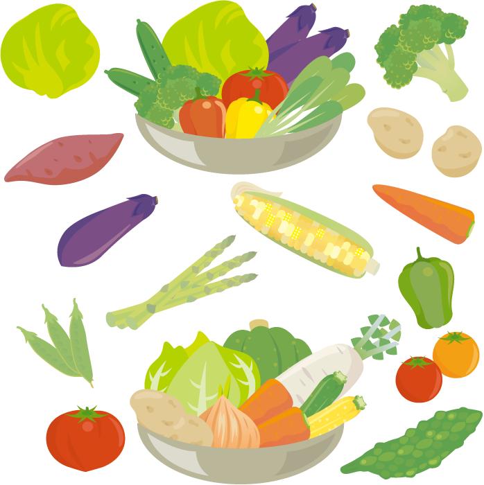 フリー イラスト野菜のセット