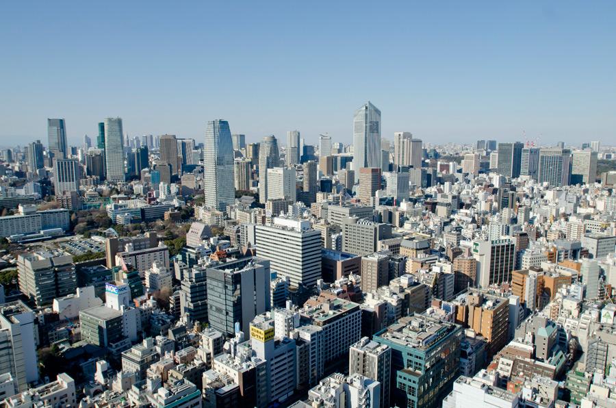 フリー 写真高層ビルの建ち並ぶ東京の街並み