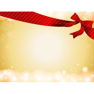 フリーイラスト, ベクター画像, AI, 背景, 年中行事, クリスマス, 12月, 冬, リボン, 蝶リボン, 雪の結晶