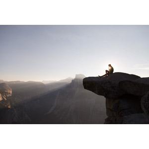フリー写真, 風景, 山, 岩, 人と風景, 太陽光(日光)