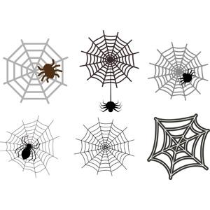 フリーイラスト, ベクター画像, EPS, 蜘蛛の巣(クモの巣), 蜘蛛(クモ), ハロウィン(ハロウィーン)