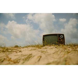 フリー写真, 風景, 家電機器, テレビ(TV), ブラウン管テレビ, 雲