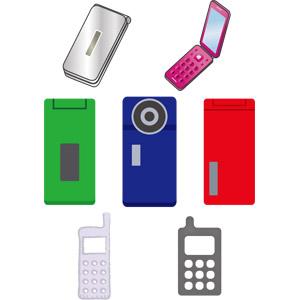 フリーイラスト, ベクター画像, EPS, 携帯電話, 電話, ガラパゴス携帯(ガラケー)