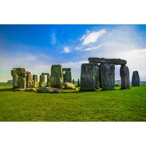 フリー写真, 風景, 建造物, 遺跡, イギリス, イングランド, 世界遺産, 青空