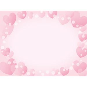 フリーイラスト, ベクター画像, EPS, 背景, フレーム, 囲みフレーム, ハート, ピンク色, 玉ボケ, 愛(ラブ)