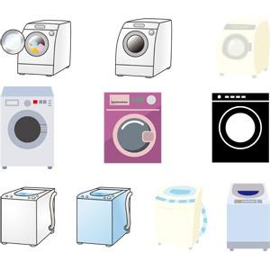 フリーイラスト, ベクター画像, EPS, 家電機器, 洗濯機, 洗濯
