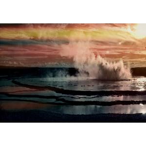 フリー写真, 風景, 自然, 間欠泉, イエローストーン国立公園, 世界遺産, アメリカの風景
