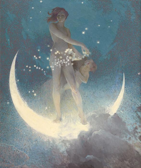 フリー絵画 エドウィン・ブラッシュフィールド作「Spring Scattering Stars」