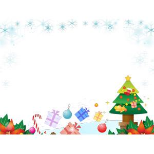 フリーイラスト, ベクター画像, AI, 年中行事, クリスマス, 12月, 冬, クリスマスボール, 雪の結晶, クリスマスツリー, クリスマスソックス, クリスマスプレゼント, キャンディケイン, ポインセチア, クリスマスベル, 背景, フレーム, 囲みフレーム