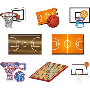 フリーイラスト, ベクター画像, EPS, スポーツ, 球技, バスケットボール, バスケットリング