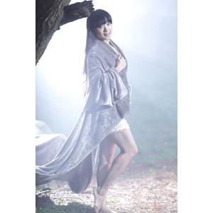 フリー写真, 人物, 女性, アジア人女性, 中国人, 霧(霞), 毛布, 女性(00056)