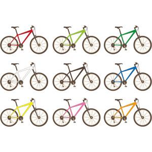 フリーイラスト, ベクター画像, EPS, 乗り物, 自転車, マウンテンバイク