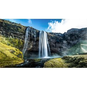 フリー写真, 風景, 自然, 滝, セリャラントスフォス, アイスランドの風景