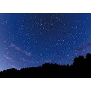 フリーイラスト, ベクター画像, EPS, 風景, 自然, 空, 夜空, 夜, 星(スター)